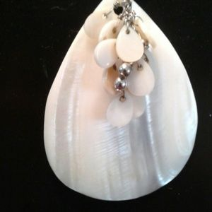 Mother of Pearl big teardrop charm with lil charms